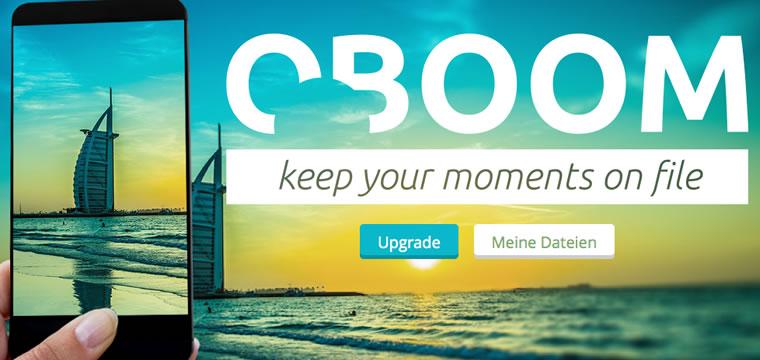 Jetzt Oboom Coupon anzeigen und gratis in die Cloud