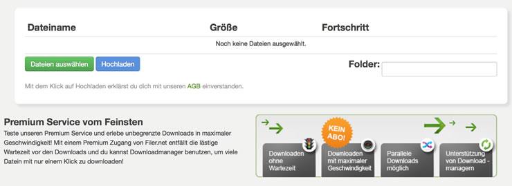 Sicherer Download und Upload bei Filer.net
