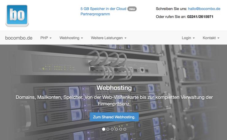 Günstiges Webhosting bei Bocombo