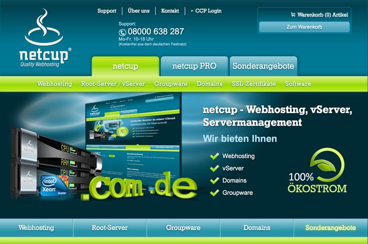 Netcup Webosting zu günstigen Preisen